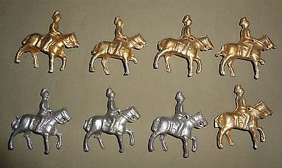 X8 Lead Model Soldiers On Horses (Gold & Silver)