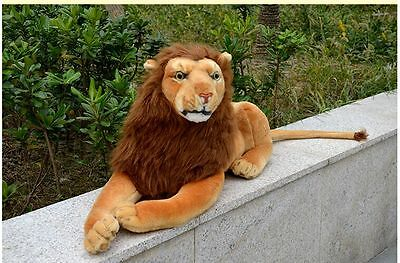 new plush simulation lion toy lovely lying lion doll birthday gift about 75cm