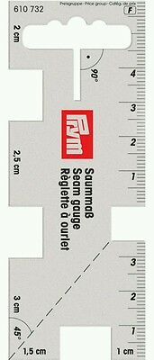Prym Seam Gauge Transparent Sewing & Crafting Measuring Ruler Tool Brand New