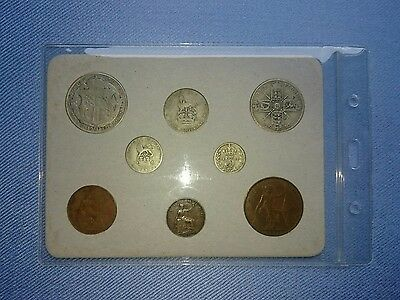 Vintage Great Britain(UK),1922 Coin Year Set.(5 Coins Silver,95TH Birthday).🎁.