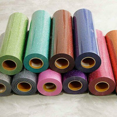 T-Shirt Heat Transfer Vinyl PU Glitter For Garment Textile Film Graphics