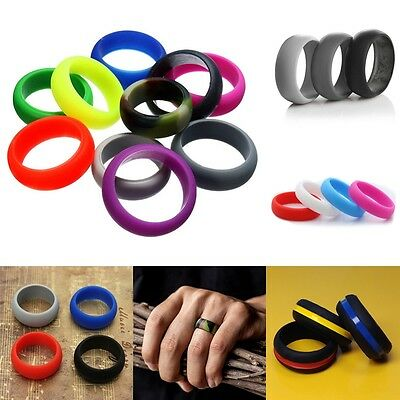 1-10Pcs Silicone Wedding Ring Men Women Rubber Band Comfortable Elegant Flexible