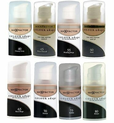 Max Factor Colour Adapt Rose Skin Tone Adapting Foundation Choose Shade