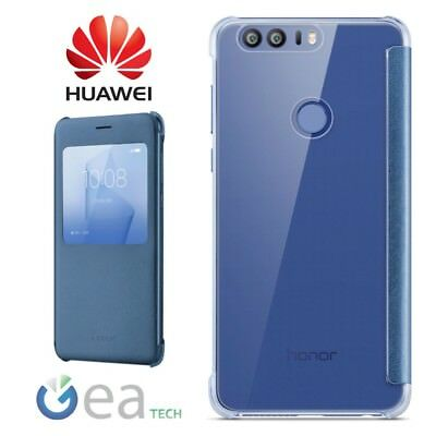 Custodia Originale Per Huawei HONOR 8 S View Cover BLU Flip Case Slim in Pelle