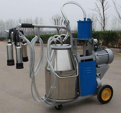 Large Electric Milking Machine Milker For Farm Cows Cattle Milk Piston Pump CA