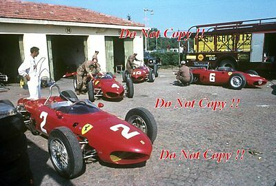Ferrari 156 Sharknose Team Italian Grand Prix 1962 Photograph