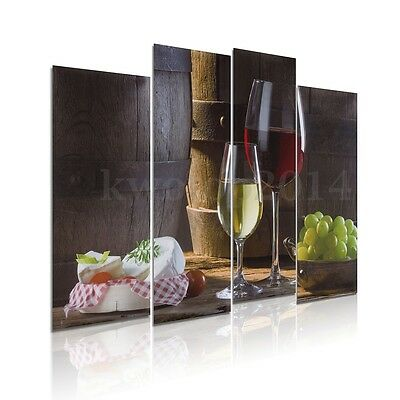 4Pcs Dessert Fruit Red Wine Picture Canvas Painting Modern Art Wall Home Decor