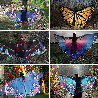 Costume Accessory Fairy Pixie Butterfly Scarf Nymph Wings Shawl Scarf 1Pcs