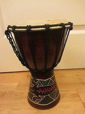 """Wooden African Djembe Bongo Hand Drum Percussion 30Cm 12"""" High"""