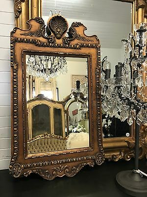 Gold French Regency Style Vintage Mirror