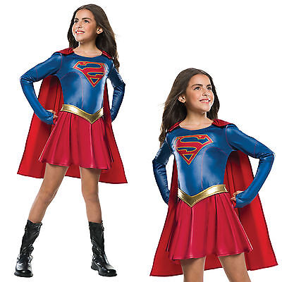 Rubies Kids Official Licensed DC Comics Supergirl TV Series Fancy Dress Costume