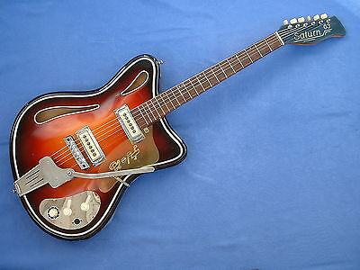 HOPF SATURN 63 ViNTAGE GERMANY BEATLES E-GUiTAR  TOP RA STAR-CLUB GiTARRE SELTEN