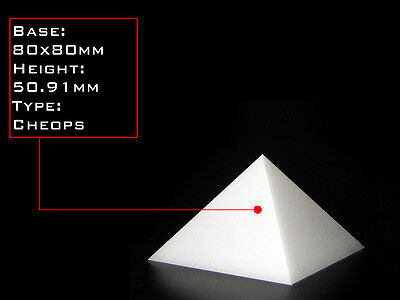 Orgonite Casting Giza Pyramid Mold, 80 X 80mm Base,  Self-Lubricating HDPE