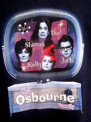 Ozzy Osbourne...& The Family....black...t-Shirt...new...girl's Child Size Xl