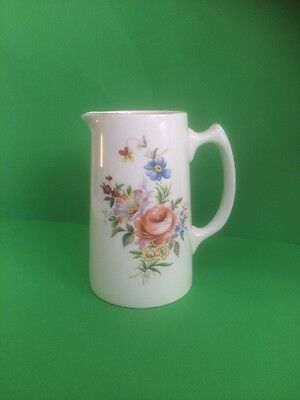 Royal Staffordshire Ceramics Water Jug with Floral Transfer Print Design