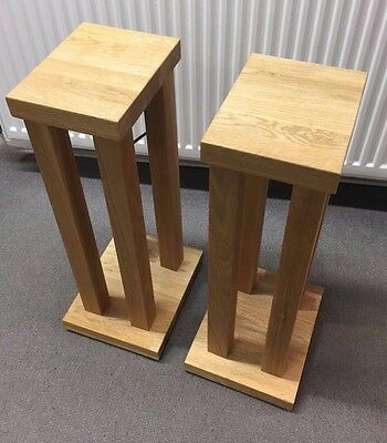 Hi-Fi Racks Speaker Stands - Oak - RRP £250