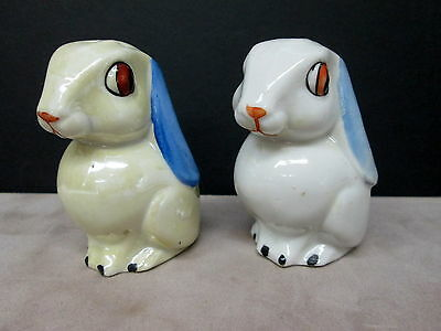 Figural Easter Bunny Rabbit Salt & Pepper Shakers - Made in Germany