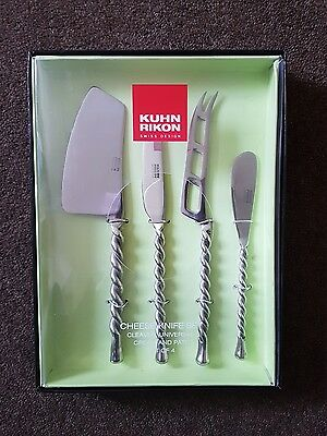 Kuhn Rikon Stainless Steel 4 Piece Cheese Knife Set - BRAND NEW
