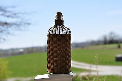 Pt. Old Time Whiskey First Prize World Fair 1893 Wicker Wrapped