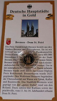 Medaille Bremen - Dom St. Petri 585 Gold PP