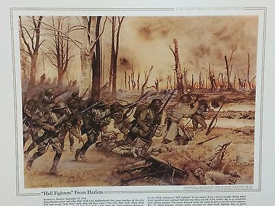 """National Guard Heritage Print - """"Hell Fighters From Harlem"""" By Charles McBarron"""