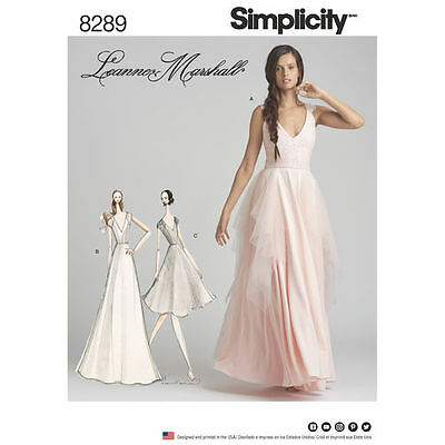 Simplicity Sewing Pattern 8289 Gorgeous Formal Evening Dress Sizes 4-12 New