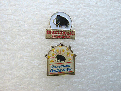 2 Pin's Mammouth Pins Pin Grande Distribution Supermarché Hypermarché  Animal T1