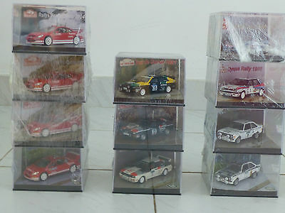 Collection of 11 Vetesse 1:43 Limited Edition Rally Car Models Sealed Packaging