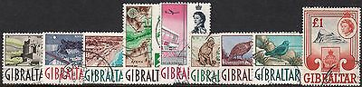 Gibraltar 1960 QEII Definitives Part Set to £1 VFU
