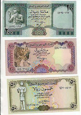 CU Yemen Signed 8 On 10, 20 & 50 Rials !00 & 200 Rials Signed 9 Set 10-200 Rials