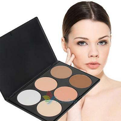 Professional 6 Color Pressed Powder Palette Nude Makeup Contour Cosmetic #buy