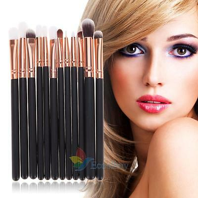 New 12Pcs Rose Gold Makeup Brush Set Eyeshadow Eye Brushes Tool #buy