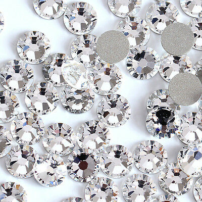 Clear -- 1440 High Quality Flatback Glass Rhinestones Size SS12 -  USA