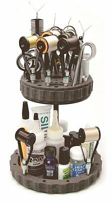 C & F Design Fishing, Anglers Double Decker Rotary Fly Tying Tool, Bobbin Stand