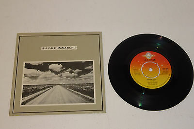 """J.J. CALE MAMA DON'T / WHAT DO YOU EXPECT 1981 SHELTER UK 7"""" 1st PRESS, P/S"""