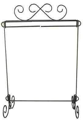 QUILT STAND, 12in x 14in WITH HEADER, Charcoal Finish By Ackfeld Manufacturing