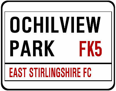 East Stirling F.c. Street Sign On Mouse Mat / Pad. Ochilview Park