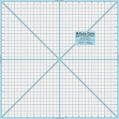 """18-1/2"""" INCH x 18-1/2"""" INCH SQUARE TRIM IT RULER, from Riley Blake Designs *NEW*"""