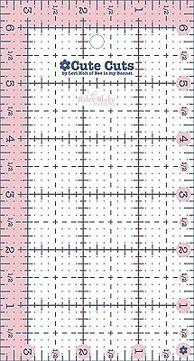 """3-1/2"""" INCH x 6-1/2"""" INCH RECTANGLE CUTE CUT RULER, from Riley Blake Designs NEW"""