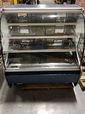 Structural Concepts Curved Glass Refrigerated Bakery Display Case