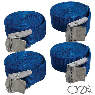 4 Pack New Cam Buckle Tie Down Straps 25mm x 2.5 Metres