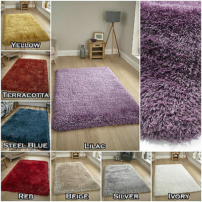 SMALL LARGE 8cm THICK HEAVY DENSE SOFT FLUFFY SHAGGY MONTANA MODERN QUALITY RUGS