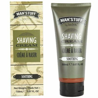 Technic Man'Stuff Men's Soothing Shaving Cream Shave Soap Foam 150ml Gift Set