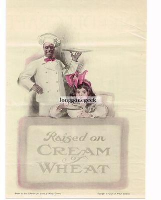 "1920 Cream Of Wheat Cereal ""Raised On"" Otto Schneider art Vtg  Print Ad"