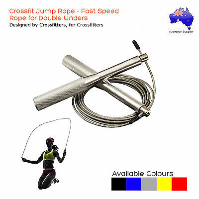 Crossfit Jump Rope - Advance Ball Bearing Speed Cable Rope for Double Unders