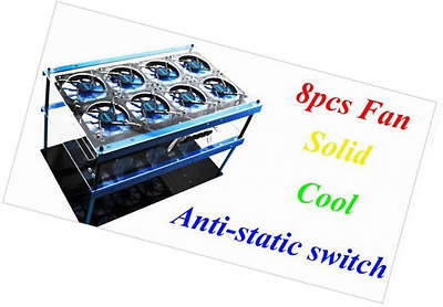 Tanli Solid Durable PMMA Open Air Bitcoin Mining Case Computer Frame Rig 8pc