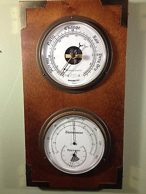 Barometer-Thermometer-Hygrometer in Solid Wood Plaque, The Nature Company-France