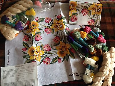 tapestry needlepoint kit by Fleur de Lis for Anchor floral garland 2 available