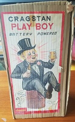 Cragstan Play Boy Metal battery operated Japan org box works