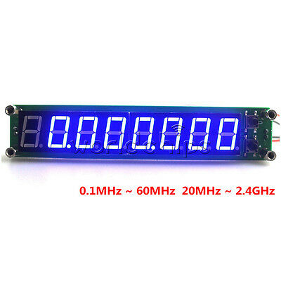 8LED Display 0.1-60MHz 20MHz~2.4GHz RF Signal Frequency Counter Cymometer Tester